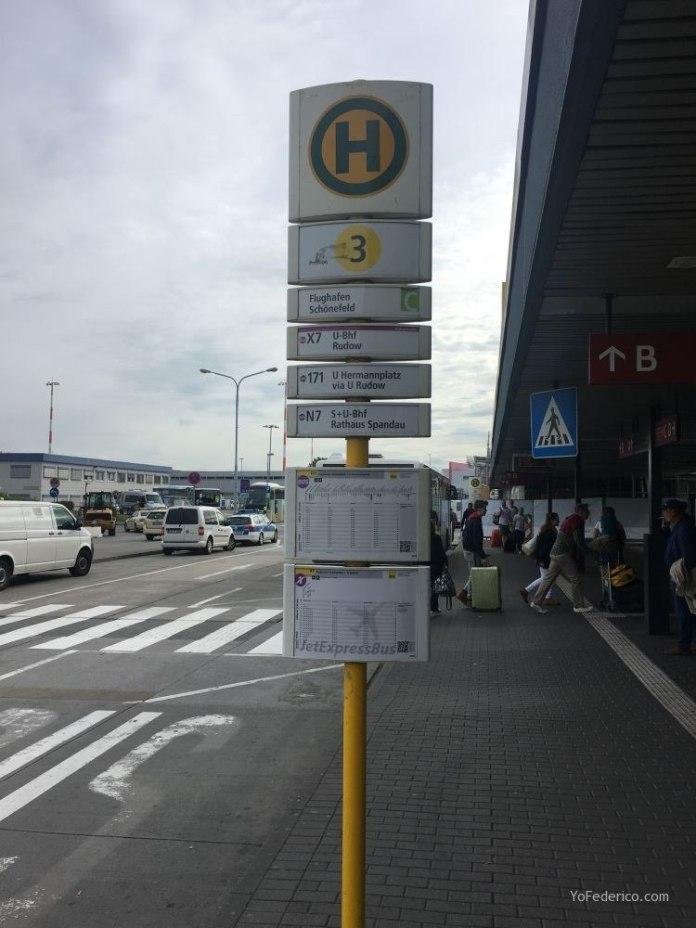 Transporte público desde el aeropuerto Schönefeld hasta la ciudad de Berlín 10