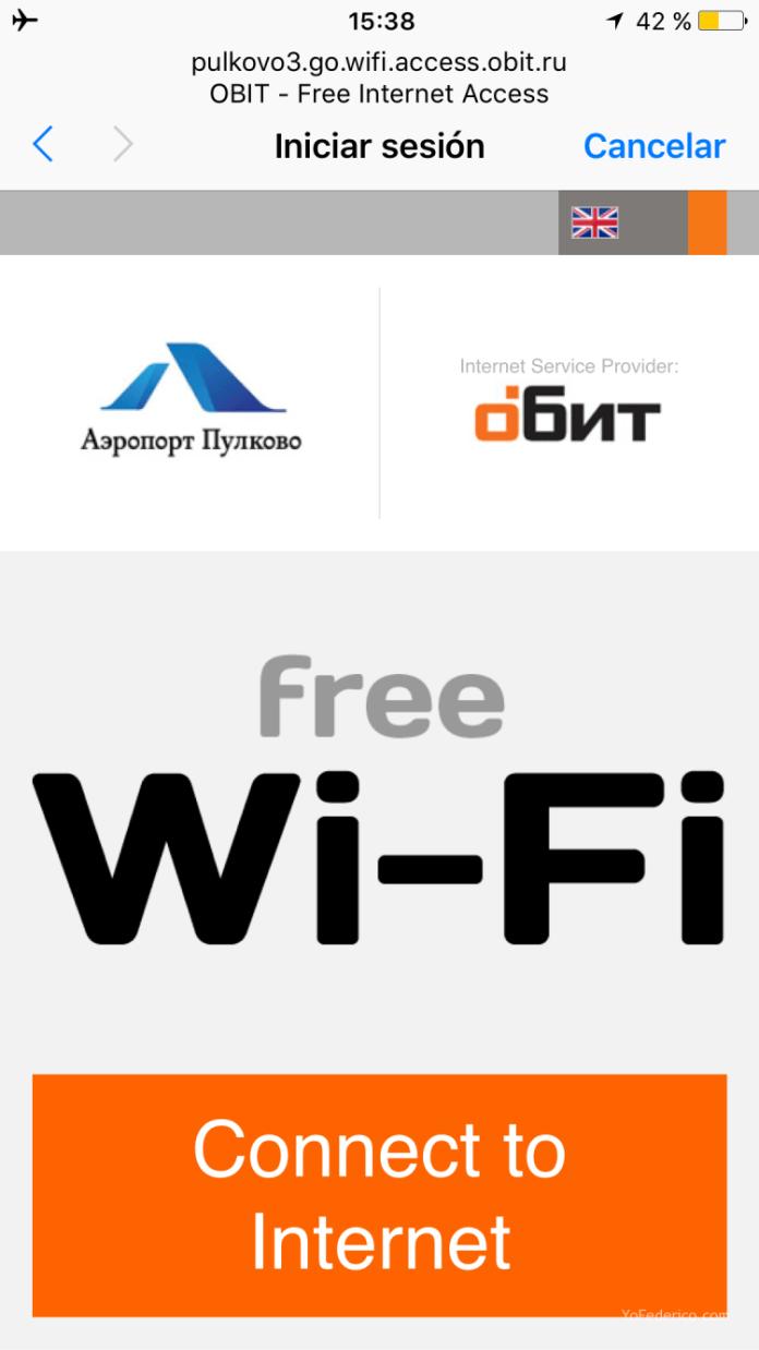 ¿Hay WiFi en el aeropuerto Pulkovo de San Petersburgo? 2