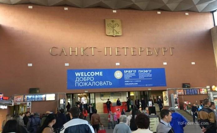 Comprando pasajes de tren en San Petersburgo para ir a Moscú 6