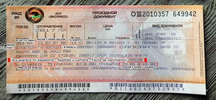 Comprando pasajes de tren en San Petersburgo para ir a Moscú 11