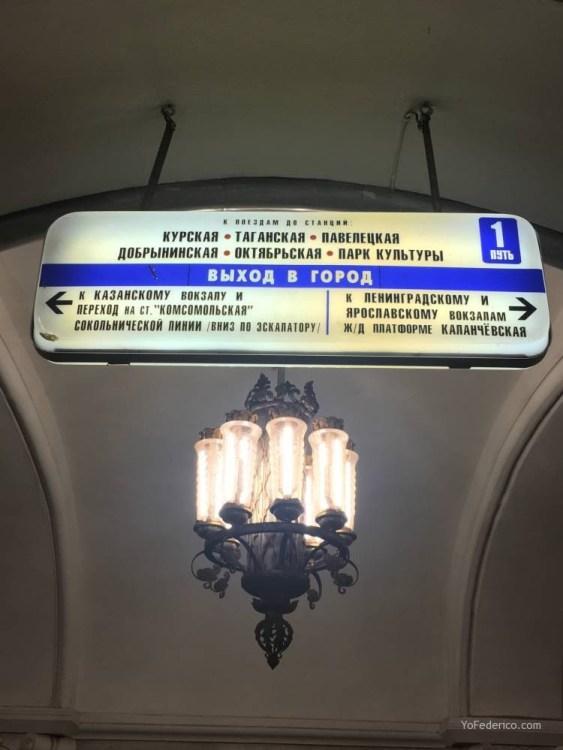 Metro desde la estación de Moscú al centro 6