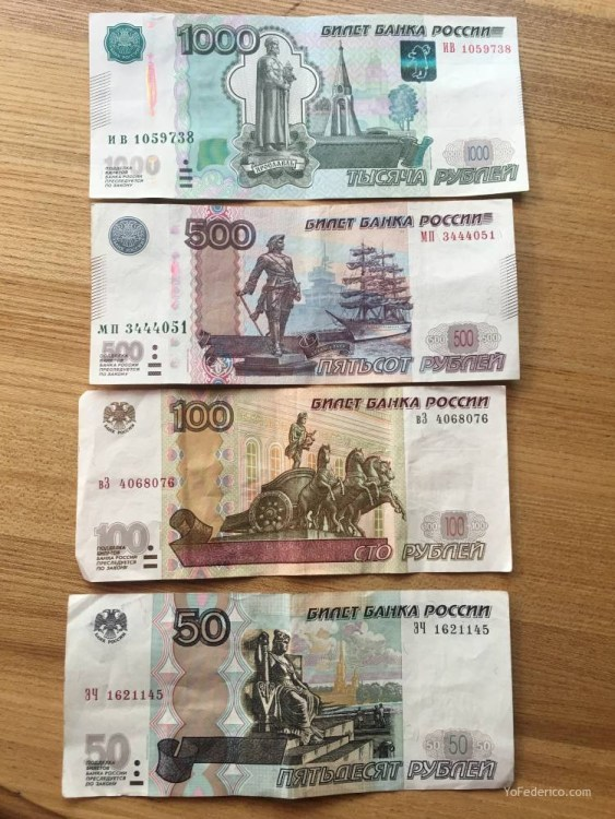 Monedas y billetes de rublos para cuando vayas a Rusia 1