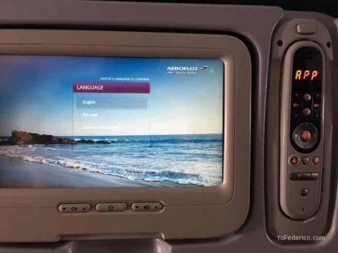 Vuelo Moscú - Londres en Aeroflot 6