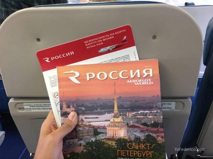 Vuelo desde Praga a San Petersburgo en Aeroflot 4