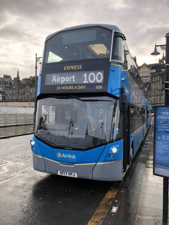 El Bus de Edimburgo que conecta la ciudad con el Aeropuerto 4