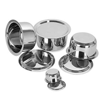 Nivia Stainless Steel Round Cooking Pot Set with Lid, Set of 4