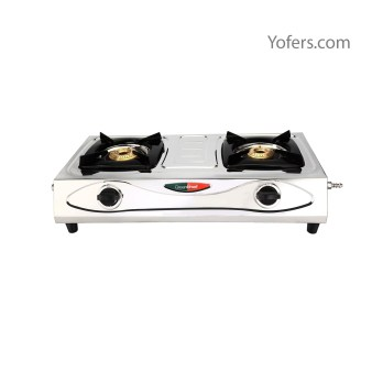 Greenchef Economy Stainless Steel 2 Burner Gas Stove