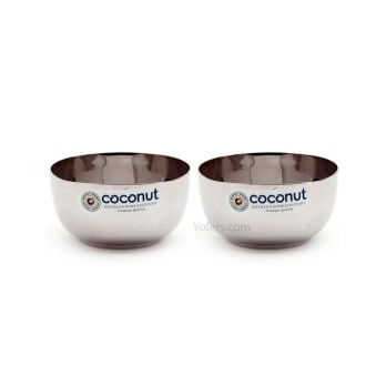 Coconut Stainless Steel Square Apple Bowl(C4)4.5