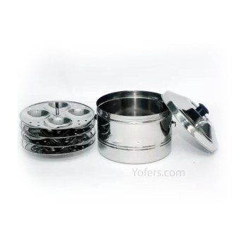 Murugan Stainless Steel Idly Cooker 4 Plates