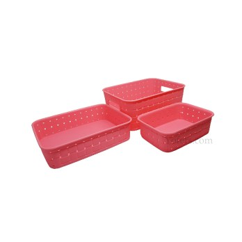 Plastic Multipurpose Smart Storage Basket 3 Pcs Set
