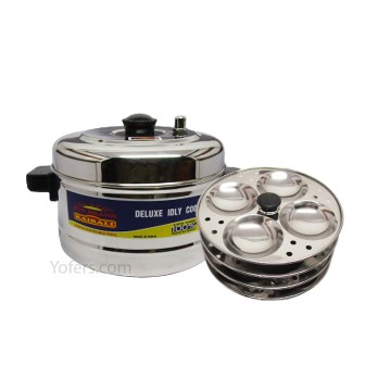 Kairali Stainless Steel Deluxe Idly Cooker 4 Plate