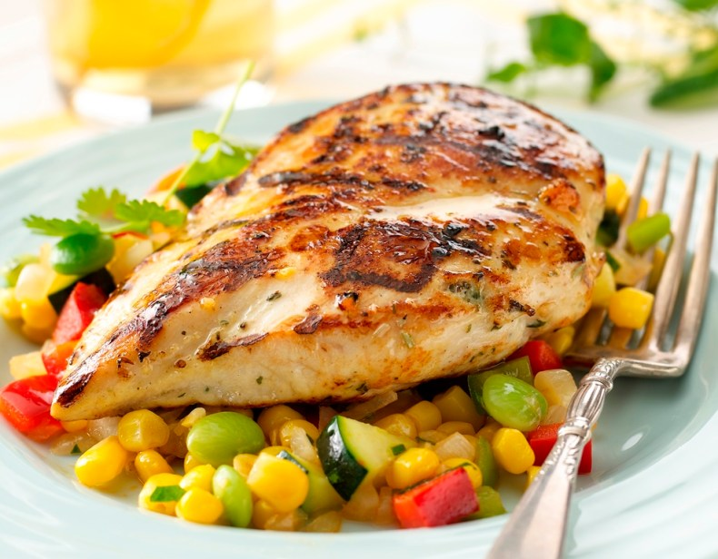 Butter-Herb-Grilled-Chicken-with-Summer-Succotash