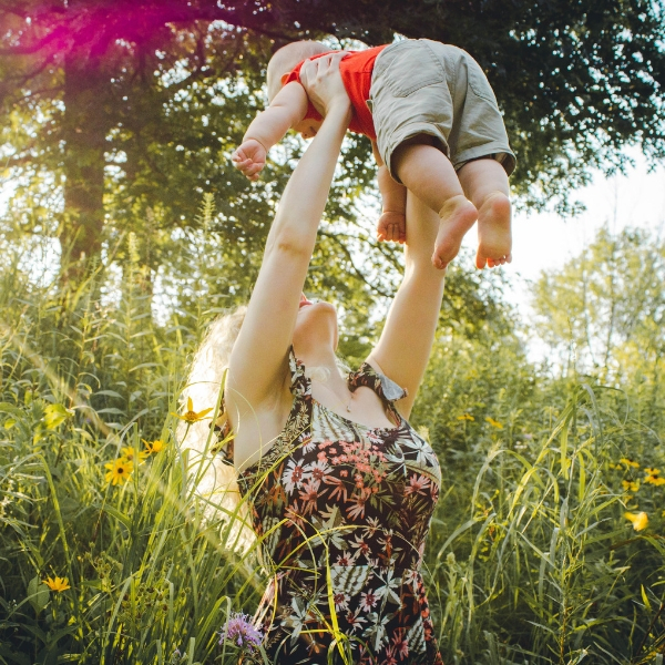mom workout with baby