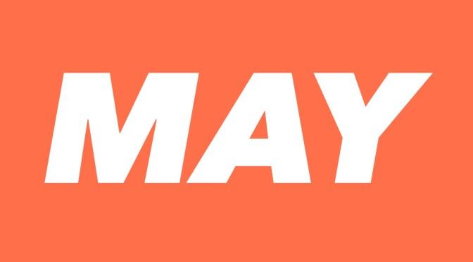 5月スケジュールのお知らせ