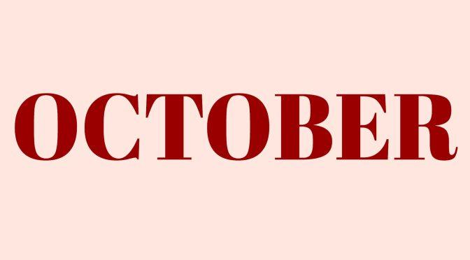 10月ヨガスケジュールのお知らせ
