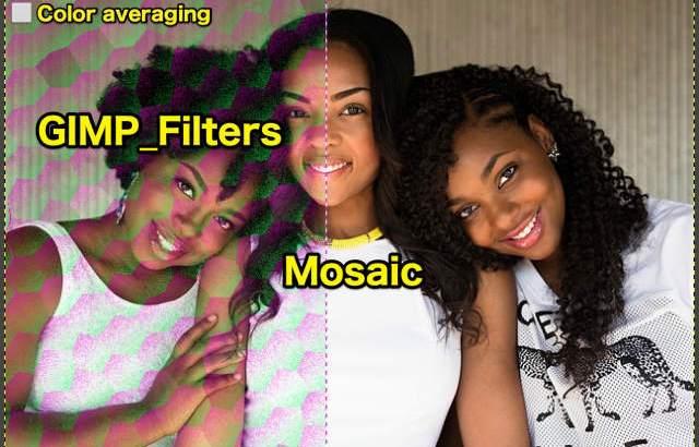 GIMP💙WordPress画像編集に使えるGIMPフィルター(Filters)_変形(Distorts)_モザイク(Mosaic)💘GIMP_Filters効果💖GIMP for Mac