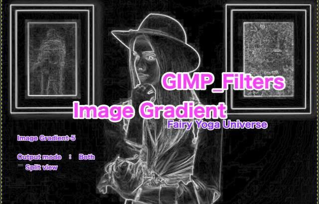 💖GIMP for Mac💘GIMP_フィルター効果(Filters)💚輪郭抽出(Edge-Detect)_画像の勾配【Image Gradient】続続篇Both【双方】💙WordPressなど画像編集におすすめ