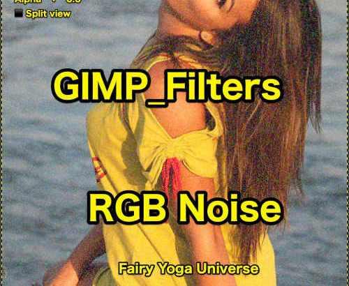💖GIMP for Mac💘GIMP_フィルター効果(Filters)💚ノイズ(Noise)_RGBノイズ【RGB Noise】default💙WordPressなど画像編集におすすめ