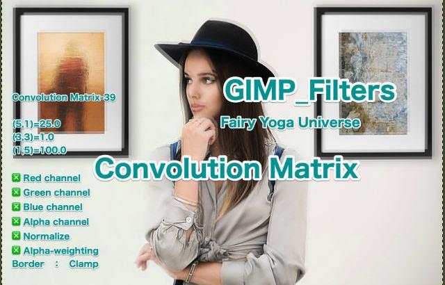 💖GIMP for Mac💘GIMP_フィルター効果(Filters)💚汎用(Generic)_コンボリューション行列【Convolution Matrix】続**32篇Matrix左下がり💙