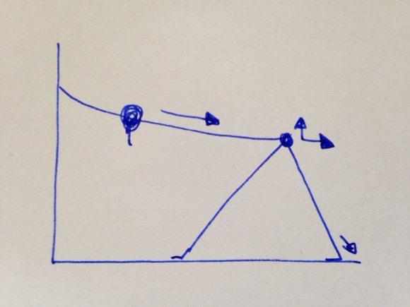 Die Hände auf Stirnhöhe an die Wand bringen, dann einige Schritte nach hinten laufen, sodass der Rücken lang werden kann. Das Becken nach hinten schieben, dann mit einem Bein eine Schrittstellung nach vorne, mit dem anderen einen Schritt nach hinten. Die hintere Ferse zur Erde senken, um eine intensive Dehnung in den Beinrückseiten entstehen zu lassen.