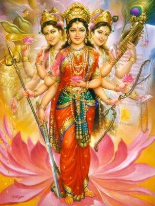 durga-tridevi-lakshmi-parvati-saraswati