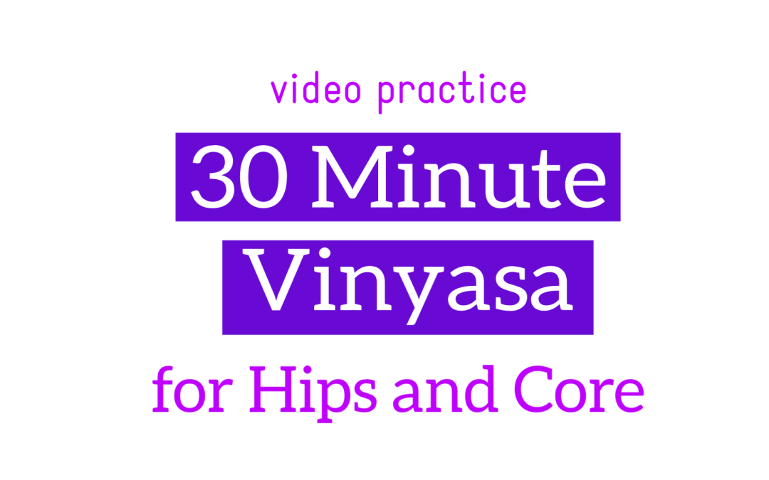 30 Minute Vinyasa for Hips and Core