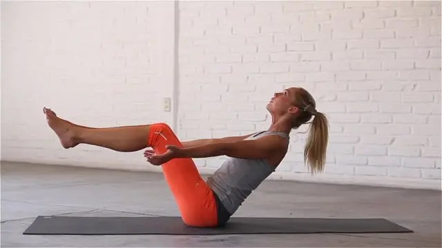 Boat pose strengthens the core.