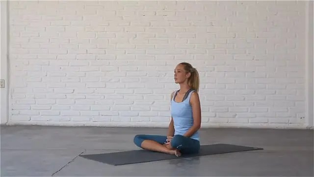 Easy Seat is a great posture for meditation and breathing techniques.