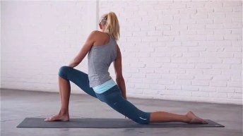 Upper body twists to relieve pain in between the shoulder blades.