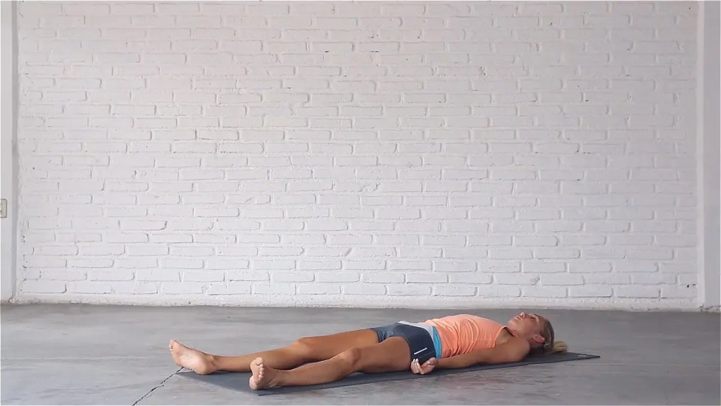 Final Resting pose is a deeply restorative yoga pose.