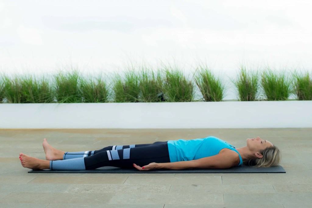 Final Resting pose releases tension throughout the body.