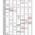 Schedule Summer 2015