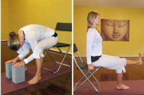 Jen Mast Chair Yoga photo collage