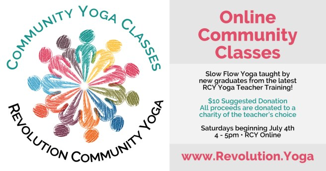 By Donation Online Community Classes Revolution Community Yoga Of Acton Ma In Studio Online