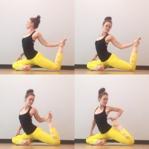 smart yoga sequencing for mermaid pose naginyasana