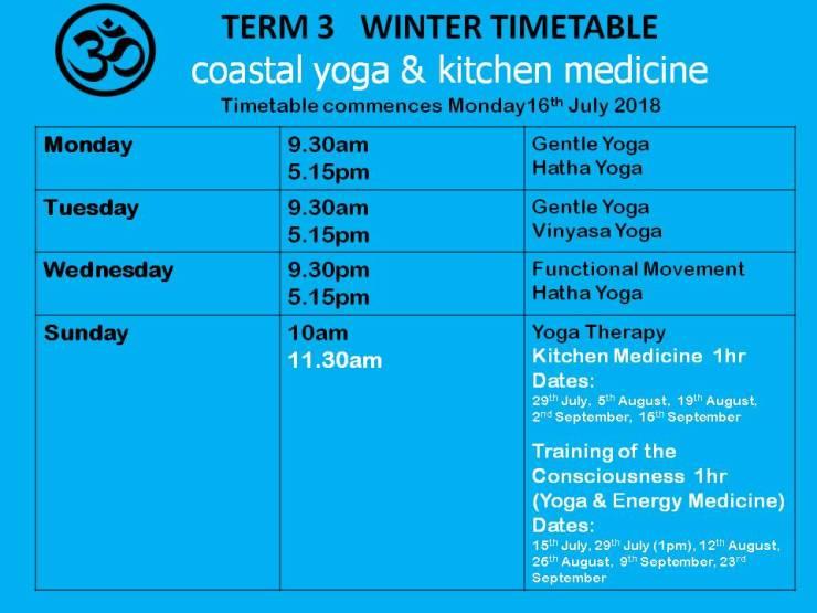 Term 3 Timetable 2018