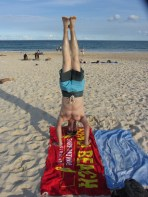 Bondi Beach Headstand, Sydney, NSW, Australia