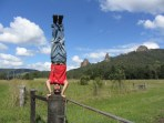 Nimbin Rocks Headstand, NSW, Australia