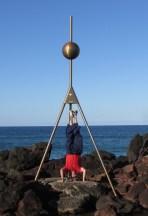 Point Danger Headstand, Gold Coast, NSW, Australia