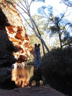 Watering Hole Headstand, Kings Canyon, NT, Australia