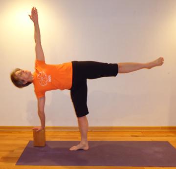 ardha chandrasana half moon pose  yoga chicago