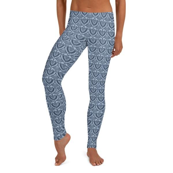 Blue Mehndi Yoga Leggings