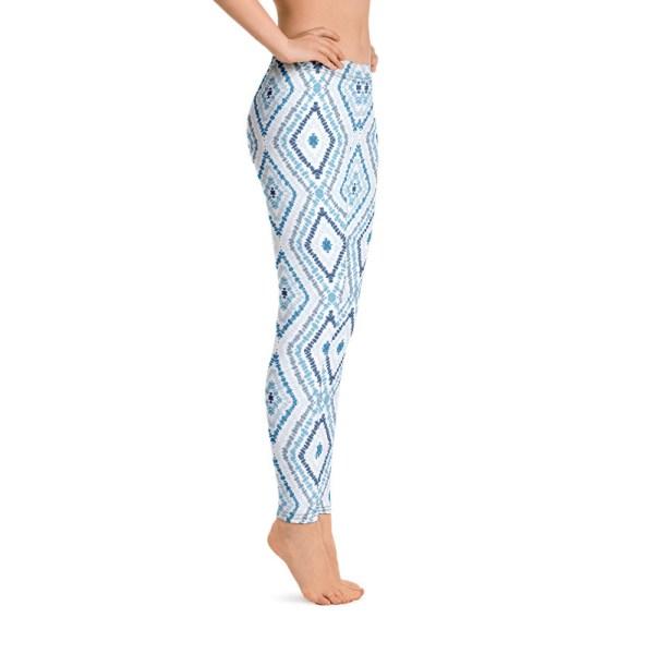 Marine Batik Print Yoga Leggings