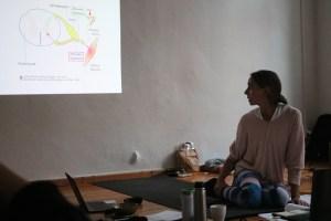 Dr. med. Wiebke Mohme verkörpert die Leitung der Yogalehrer Ausbildung in Berlin. Sie ist Arzt für Ayurveda Medizin & Yogalehrerin. Außerdem ist sie eine sehr erfahrene Ausbildungsdozentin in den Bereichen Ayurveda, Yoga & Yogatherapie. Sie beantwortet Dir sämtliche Fragen aus den Bereichen Medizin, Körper, Gesundheit, Yoga & Ayurveda sowohl fundiert als auch verständlich.