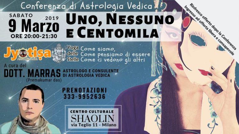 9 Marzo 2019 - Conferenza di Astrologia Vedica a MILANO