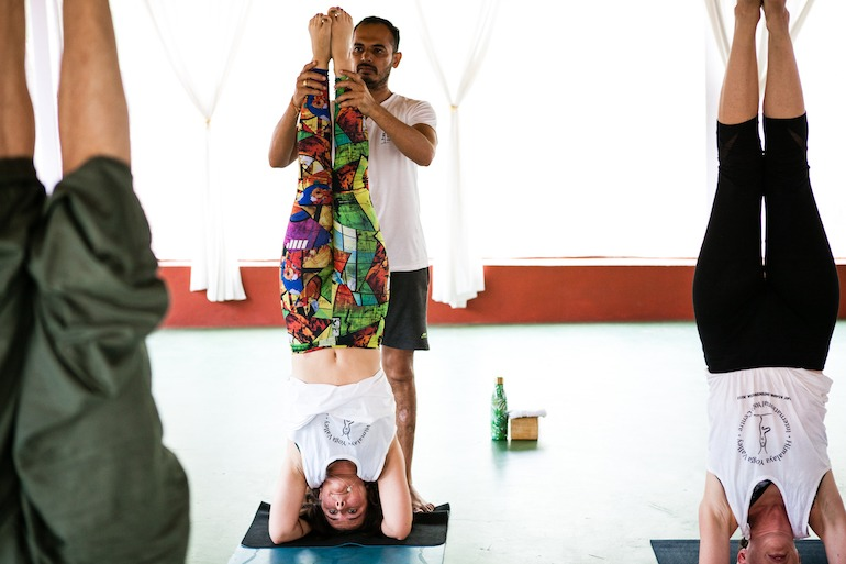 Lalit Yoga Teacher Headstand