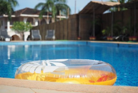 rubber ring on pool