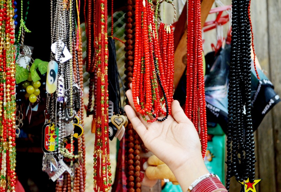 Avoid wearing jewelry during Yoga practice