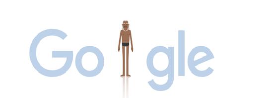 Google Doodle of B K S Iyengar