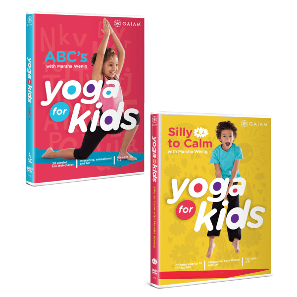YogaKids ABC and Silly to Calm DVDs